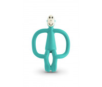 Игрушка-прорезыватель Matchstick Monkey силиконовый Обезьянка Зеленый 10.5 см (MM-T-008)