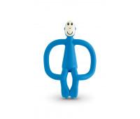 Игрушка-прорезыватель Matchstick Monkey силиконовый Обезьянка Синий 10.5 см (MM-T-002)