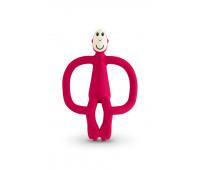 Игрушка-прорезыватель Matchstick Monkey силиконовый Обезьянка красный 10,5 см (MM-T-004)