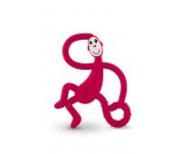 Игрушка-прорезыватель Matchstick Monkey Танцующая Обезьянка красная 14 см (MM-DMT-004)