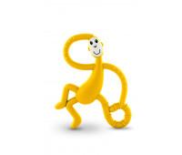 Игрушка-прорезыватель Matchstick Monkey Танцующая Обезьянка желтая 14 см (MM-DMT-006)