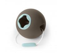 Сферичное ведро Quut Ballo серое с голубым (170136)