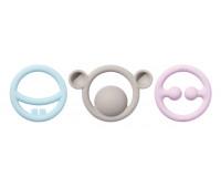 Игрушка-прорезыватель Moluk Nigi+Nagi+Nogi пастельные 3 шт в упаковке (43401)