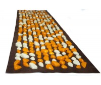 Коврик с камушками DECO - Lamor 140х40 см (коричневая основа) бежево-оранжевый