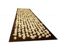 Коврик с камушками DECO - Lamor 140х40 см (коричневая основа) бежевый