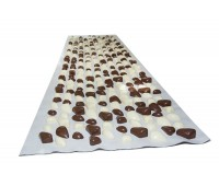 Коврик с камушками DECO - Cluny 140х40 (бежевая основа) бежево-коричневый