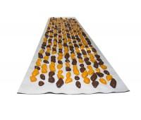 Коврик с камушками DECO - Cluny 140х40 (бежевая основа) оранжево-коричневый