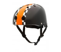 Велосипедный шлем Trybike 47 53см черный с оранжевым (COCO 5S)
