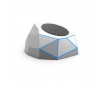 Беспров.зар. устр-во для моб. тел.XOOPAR-GEO DOCK(серебр.,син.LED,microUSB-каб для пит.от порта USB)