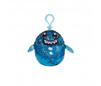 Мягкая игрушка с пайетками SHIMMEEZ S2 – АКУЛА ЗУБАСТИК (9 см, на клипсе)
