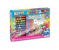 Ароматный набор для творчества - АРОМАТНОЕ АССОРТИ (раскраски,маркеры,воск.карандаши,наклейки,ручки)