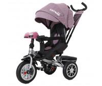 Велосипед трехколесный TILLY CAYMAN с пультом и усиленной рамой T-381/4 Фиолетовый лен /1/