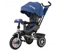 Велосипед трехколесный TILLY CAYMAN с пультом и усиленной рамой T-381/4 Синий лен /1/