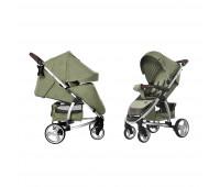 Коляска прогулочная CARRELLO Vista CRL-8505 Olive Green в льне +дождевик L /1/ MOQ