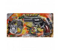 Пистолет на присосках, с набором, на блистере YX1503-7 *