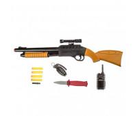 Берно ПФ пистолет с 4 мягкими пулями и оптикой, рацией, гранатой и нож блистер (18шт.) 920