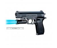 Пистолет K2119-C+ (168шт/2) пульки,свет,в пакете 22,5*15 см *