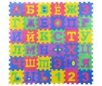 Коврик пазл EVA201 (24 шт) рус. алф., 36 деталей, р-р детали 14*14 см, в пленке - 40*27*4.5 см, р-р