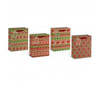 """Пакет с картона, с блестками """"Стильний орнамент"""" 32*26*12,5 см, (12 шт в пак) *"""