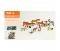 Животные (72шт/2) домашние, в пакете 23*32см