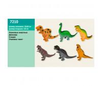 Животные резиновые Динозавры, 6 видов ((12))