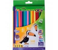 Цветные карандаши, 36 цветов, KIDS LINE *