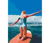 """Набор для росписи """"Серфинг на Бали"""" 38*50 см *"""