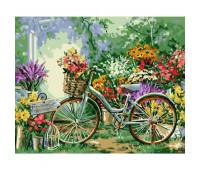 """Набор для росписи """"Велосипед в цветах"""" 40*50 см"""