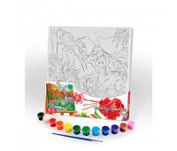 "Креативное творчество ""Розпис на полотне ""Canvas Painting"" 31см*31см с.5 №4 динозаври *"