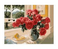 """Набор для росписи """"Розы на подоконнике"""" 40*50 см *"""
