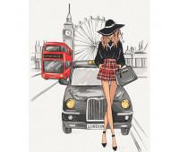 """Набор для росписи """"Элегантность Лондона"""" 38*50 см *"""