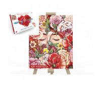 "Креативное творчество ""Картина по номерам на полотне"" 40см*50см с.2 №4 аромат цветов в коробке *"