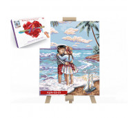 "Креативное творчество ""Картина по номерам на полотне"" 30см*40см коробка ""Морской пляж"" (10) *"