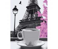 """Набор для росписи """"Кофе в Париже"""" 40*50 см *"""