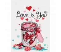 "Набор для росписи по номерам. Натюрморт ""Love is you"" 30*40см *"