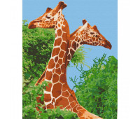 """Набор для росписи """"Пара жирафов"""" 40*50 см *"""
