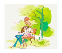 """Набор для росписи """"Чувства. Весна"""" 30*38 см *"""