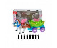 Карета с лошадкой, музыкальная, в коробке HD9023A р.25.5*10.5*16.5см. *