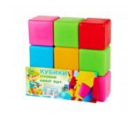 Кубики цветные 9 шт БОЛ (21)
