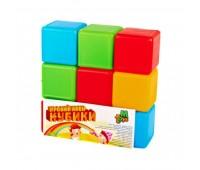 Кубики цветные 9шт.(21)