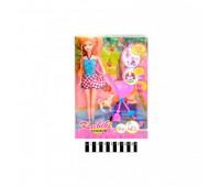 Лялька з візочком і песиками