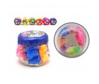 """Вязкая масса """"Rainbow Fluffy Slime"""" укр (6) 3 цв"""