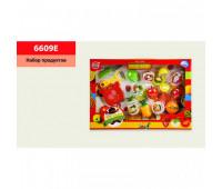 Набор продуктов 6609E (36шт/2) на липучке, фрукты, овощи,в кор. 45*5,5*32см *