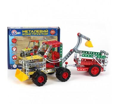 Конструктор металлический «Трактор с прицепом ТехноК» (10)