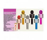 Микрофон караоке M133 (WS-858) (50шт) юсб зарядка, 6 цветов, в коробке 9*8.5*24.5 см *