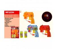 Мыльные пузыри MP18294 (96шт/2) пистолет с двумя бутылочками, на планшетке 3 mix *