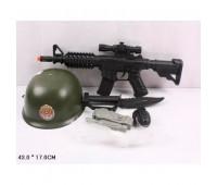 Военный набор 6313D-1 (72шт/2) каска, автомат, в сетке 43*17см *
