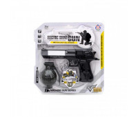 Поліцейський набір з пістолетом і гранатою, на батарейках, на блістері HY073 р.25,5*25,5см *
