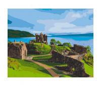 """Набор для росписи """"Замок Аркарт.Шотландия"""" 38*50 см *"""