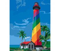 """Набор для росписи """"Маяк Сан Августин. Флорида"""" 38*50 см"""